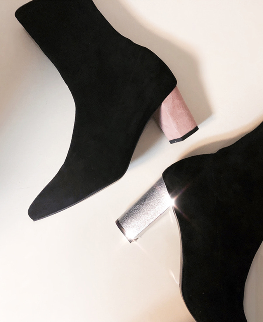 Full-moon ankle boots (2color)