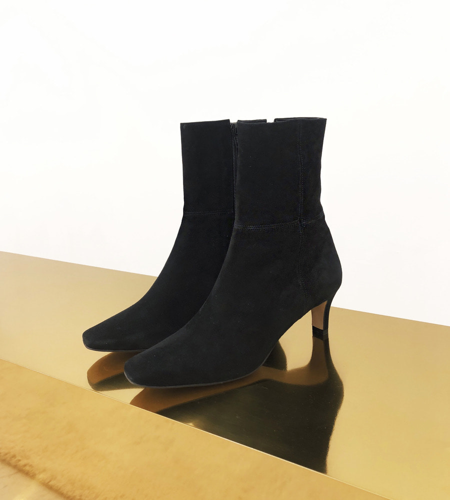 cross suede ankle boots