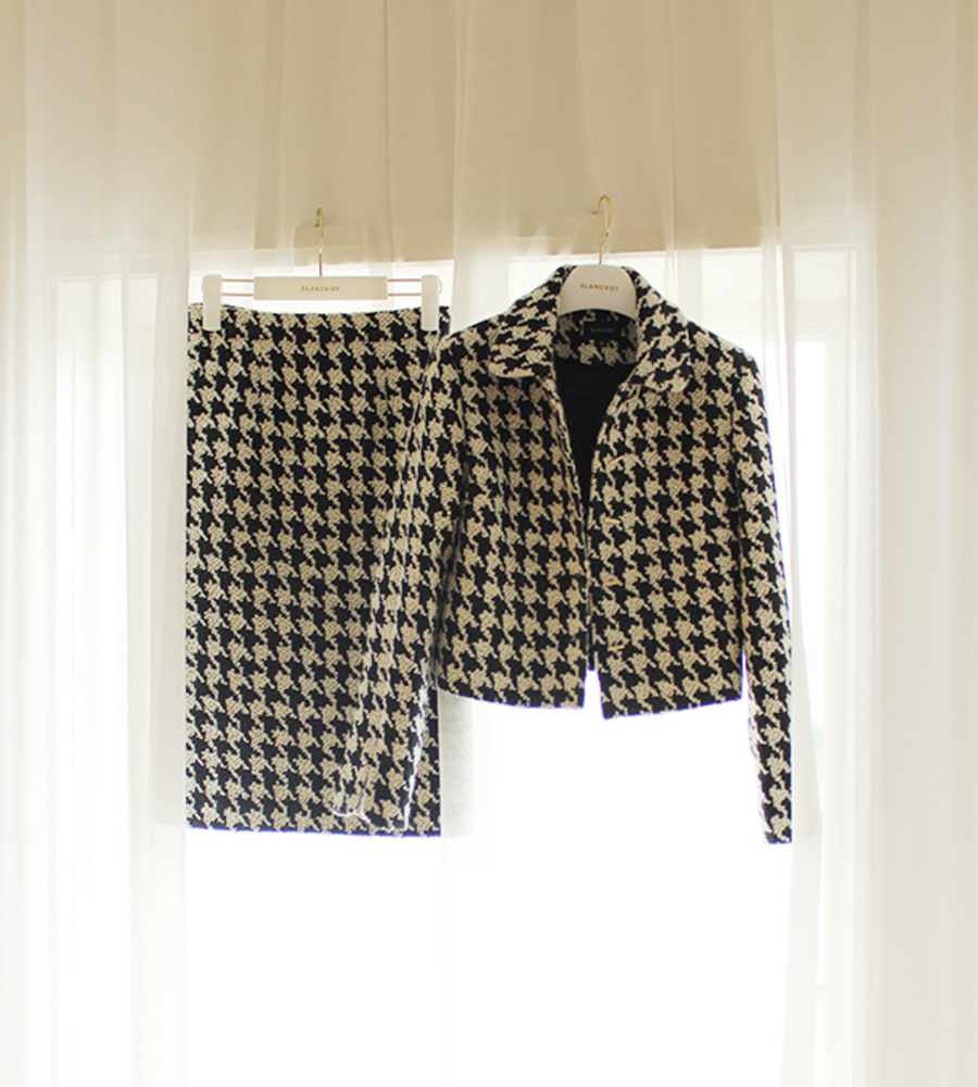 Houndtooth two-piece