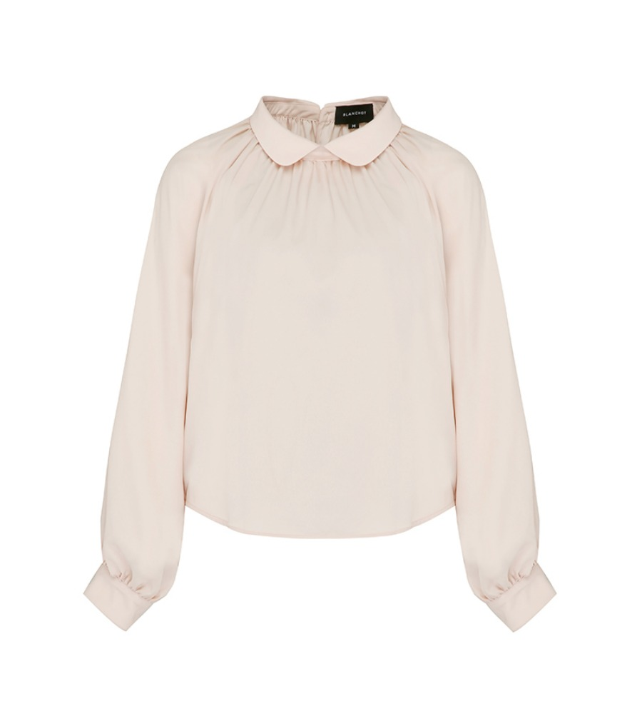 peach beige blouse