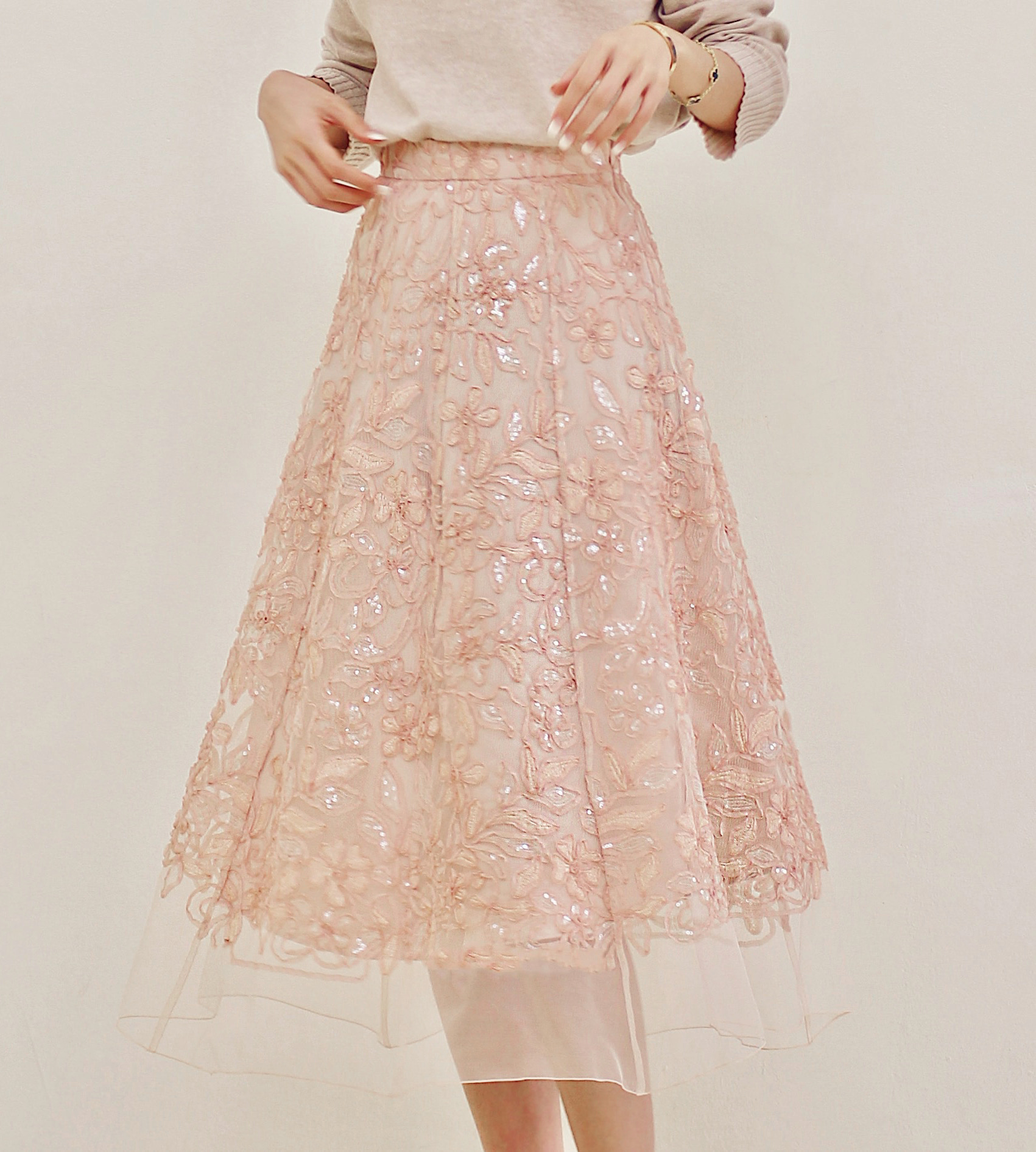 bloom lace skirt