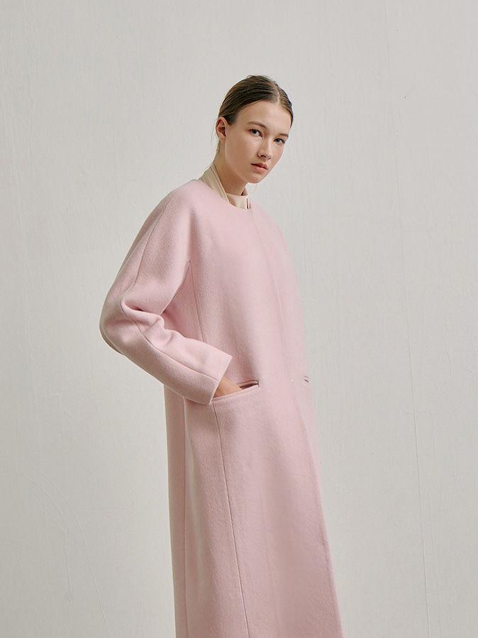 fine wool coat_cotton pink