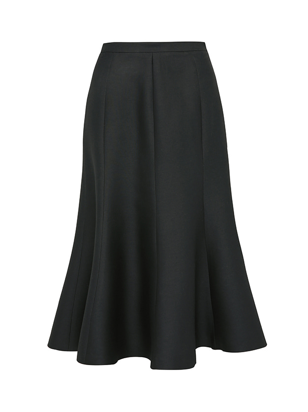 classic wool silk skirt