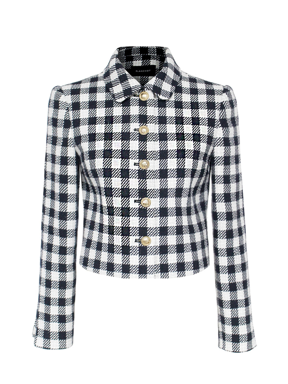 shepherd check set-up jacket