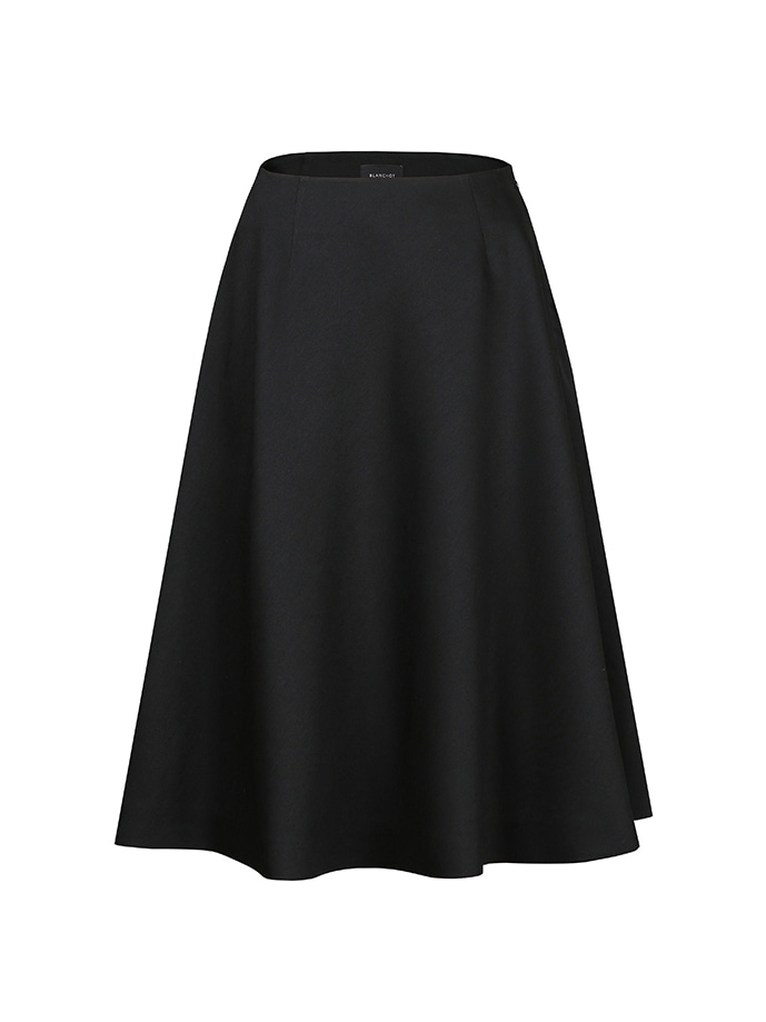 daily wool silk skirt_black