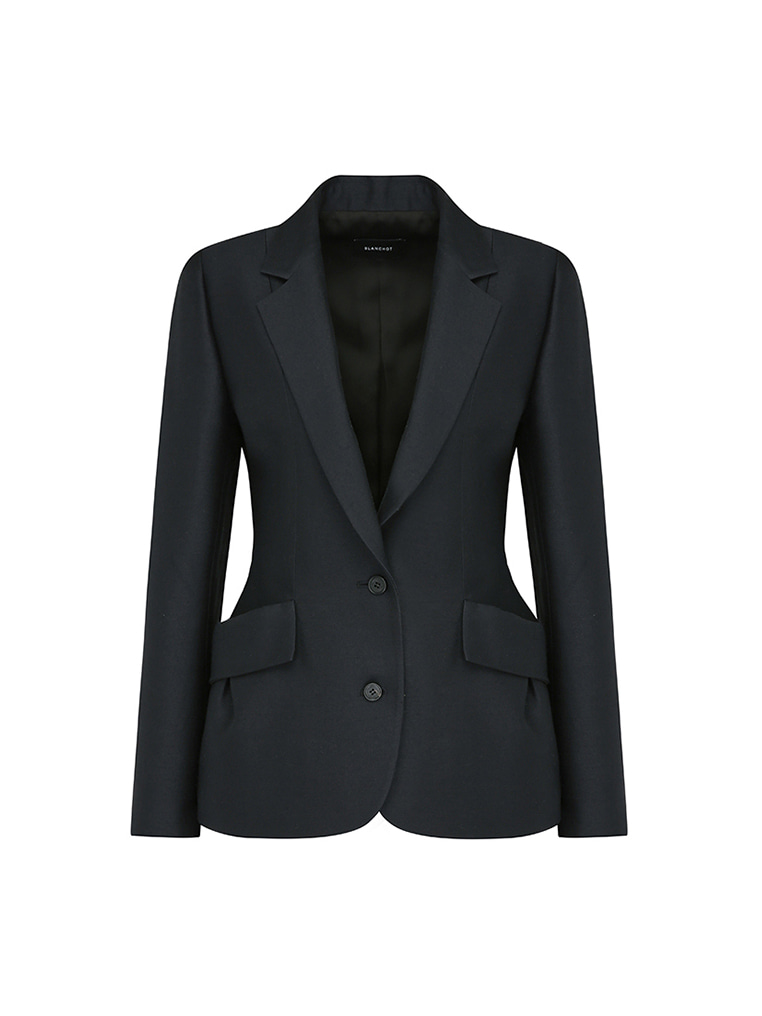 classic wool silk jacket