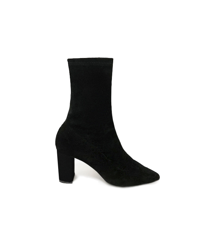 Full-moon ankle boots (black)