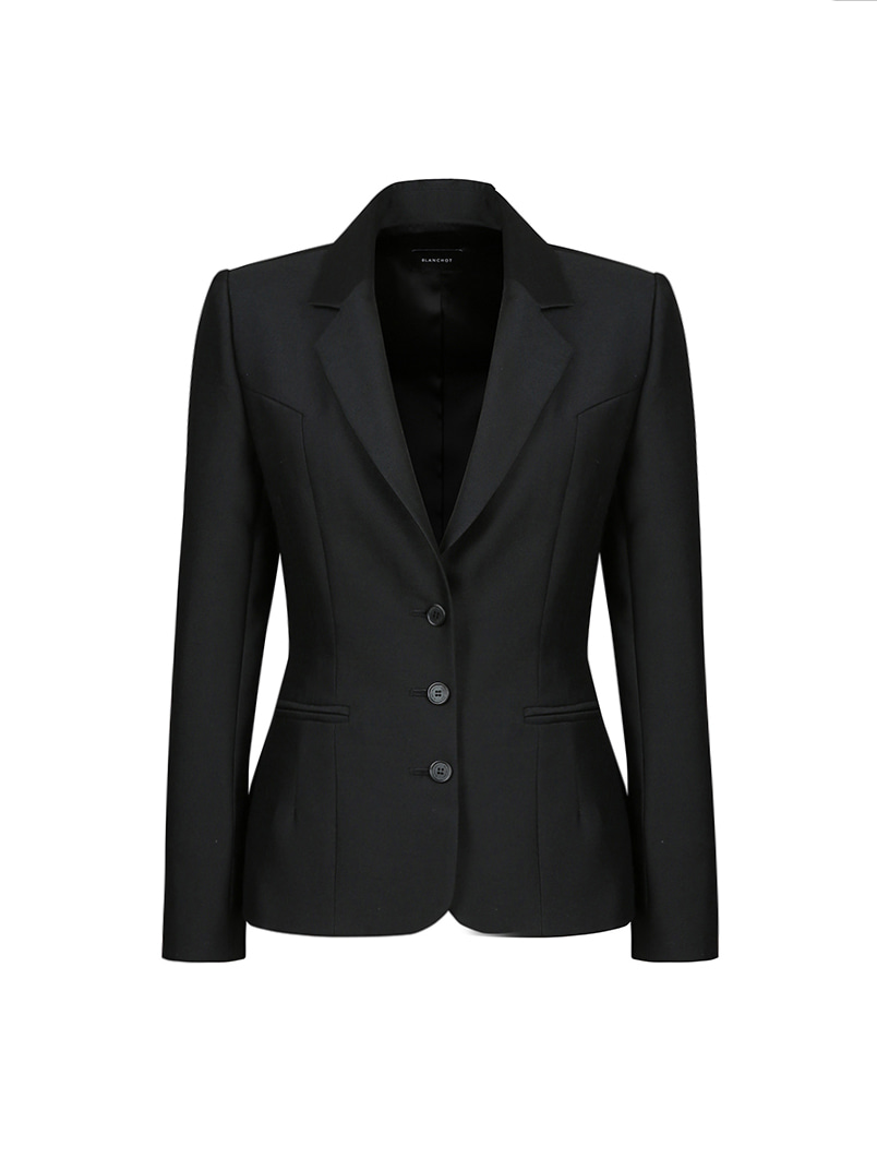 daily wool silk jacket_black