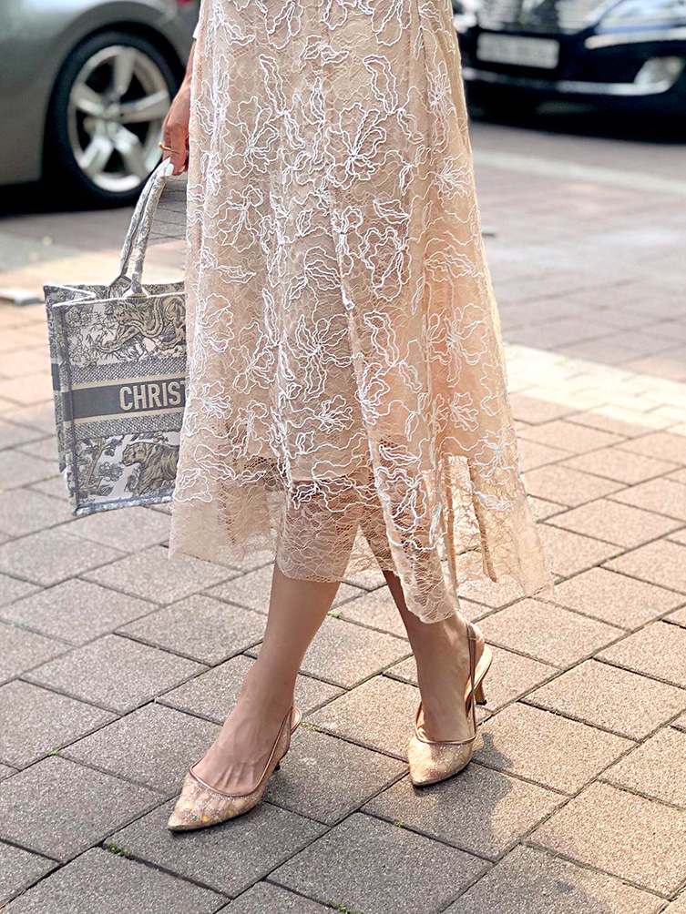 code flower lace SKIRT