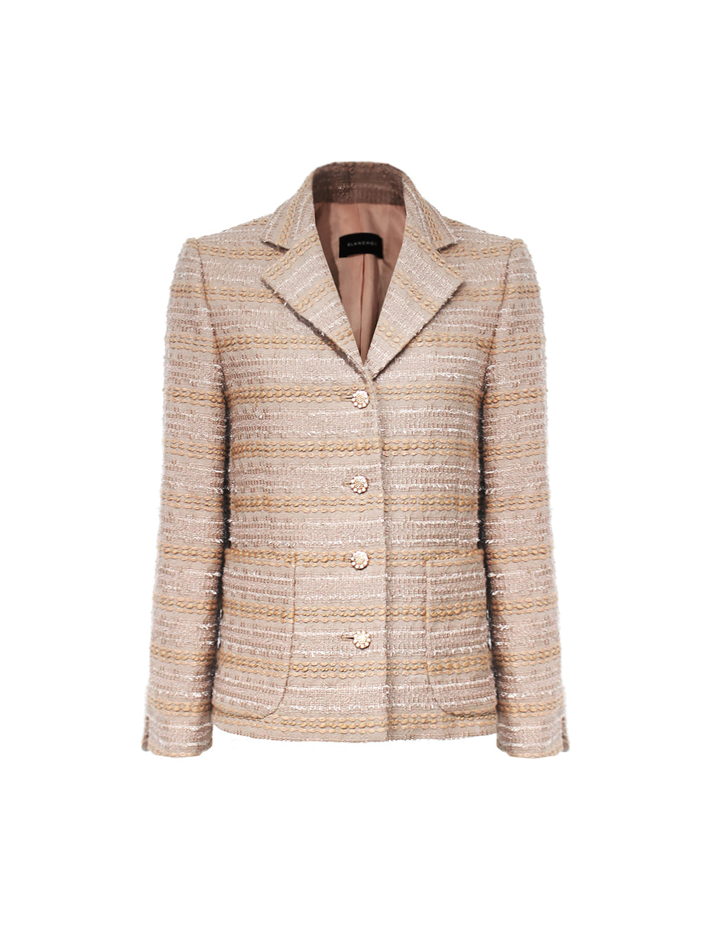 two beige tweed jacket