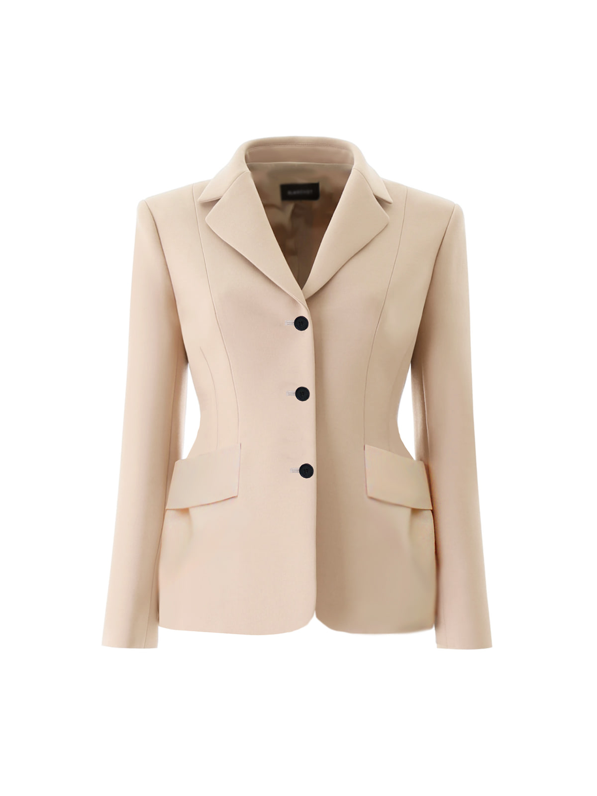 peach beige wool silk jacket