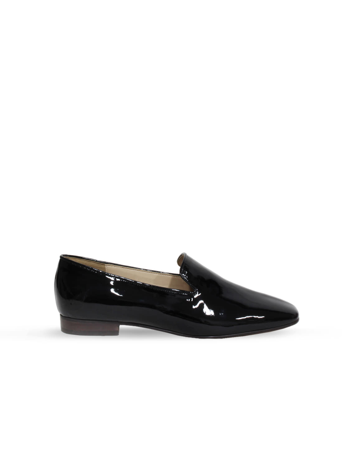 patent loafer - black