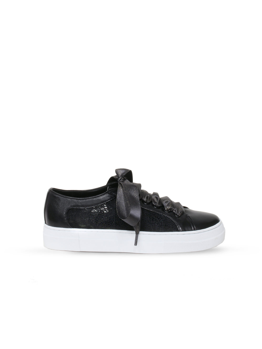 Lace sneakers - black
