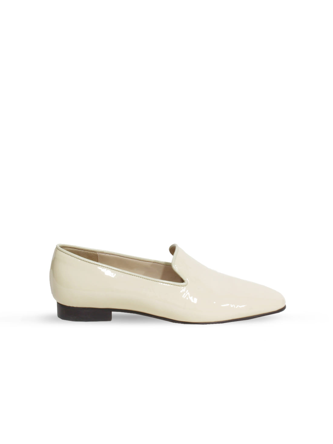 patent loafer - cream
