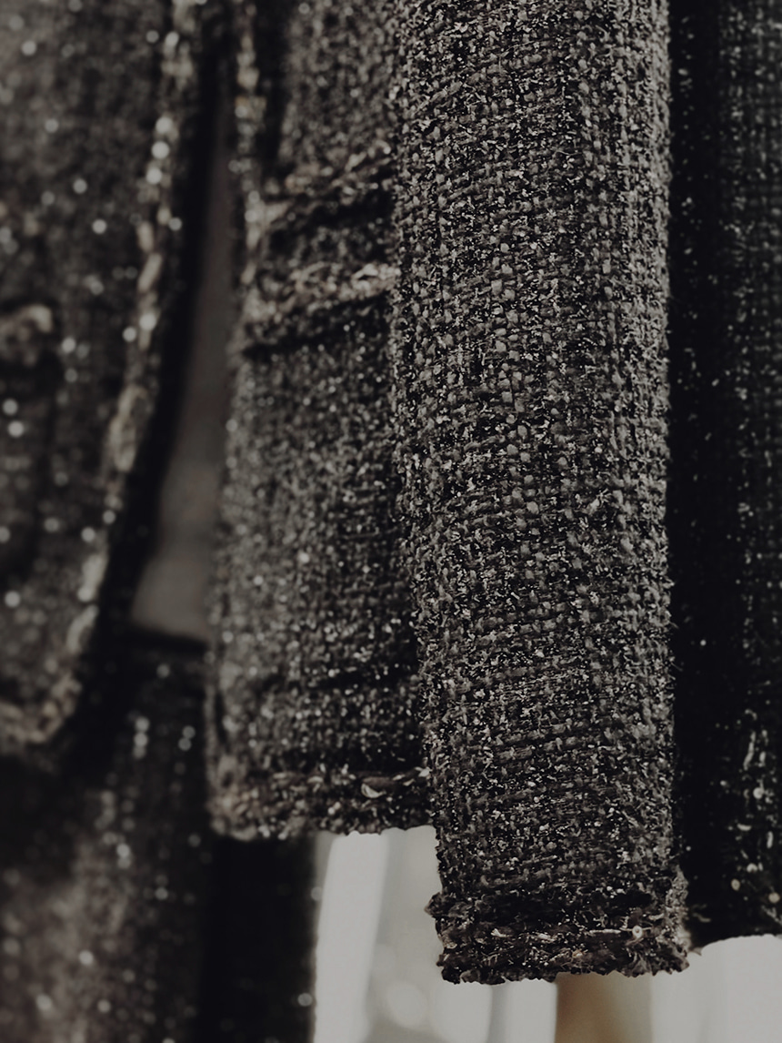 black dahlia tweed jacket