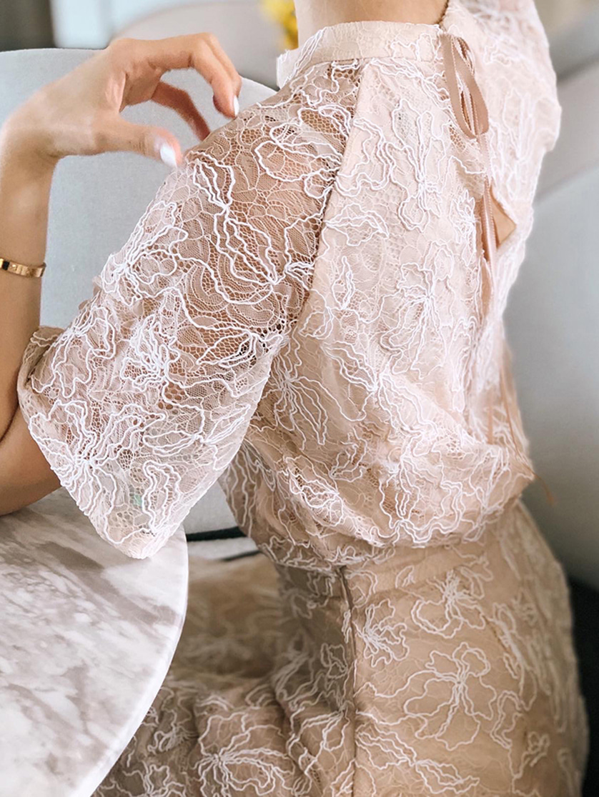 code flower lace top